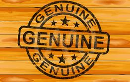 Genuine concept icon means authentic true or real - 3d...