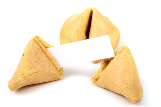 empty fortune cookie