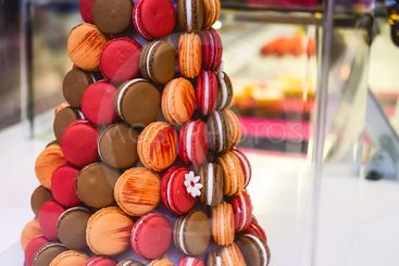 Macaroons tower, pyramid - Assortment of Colorful...