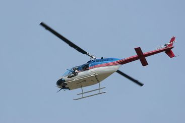 Red White and Blue Helicopter