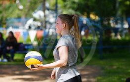 Orenburg, Russia, 9-10 June 2017 year: Girl playing...