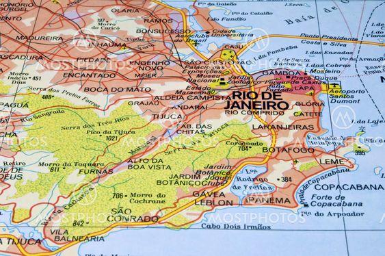 Rio de Janeiro map.\