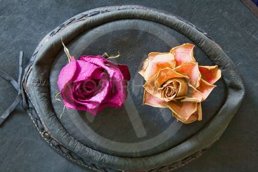 roses and hat