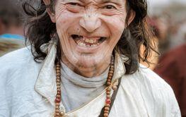 Happy man in Bihar
