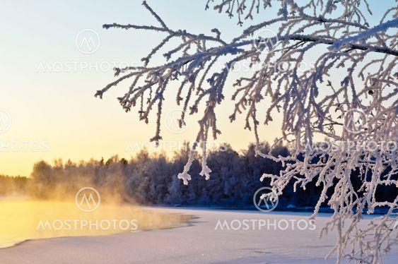 Kold januar-dagen ved søen