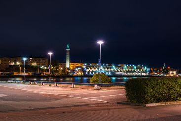 Empty parking place in Gothenburg, Sweden