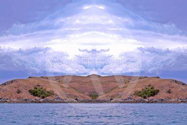 Vivid Island Cloudscape