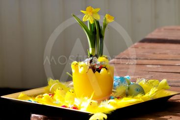 Small table decoration for Easter