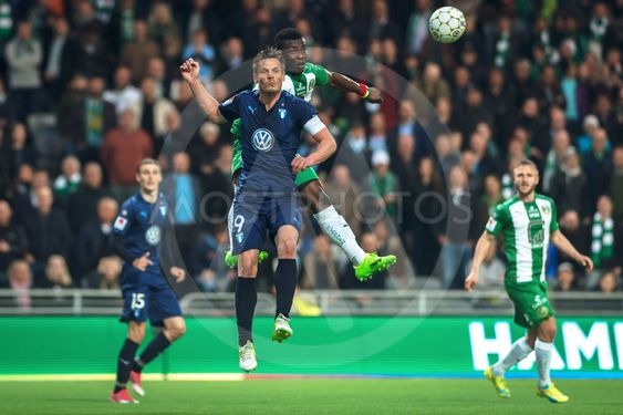 Markus Rosenberg in a duel at the match between Hammarby...