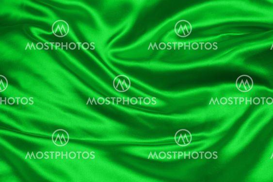 Vihreä crumpled Silkkijätteistä kangasta