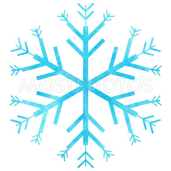 Snowflake for festive background.