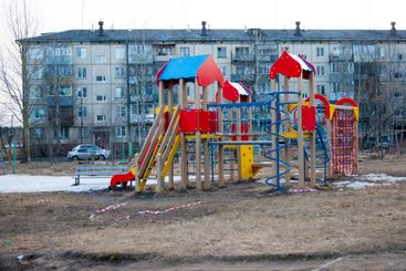 Children's playground in the courtyard of the provincial...
