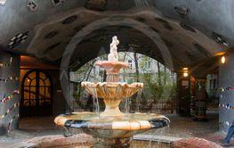 Fontain near of Hundertwasser house in Vienna Austria