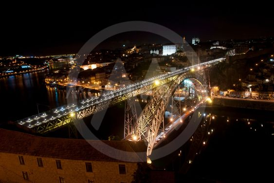 Bridge of Luis I at night, Porto, Portugal