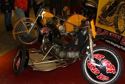 HAMBURG, GERMANY - JANUARY 26: the sport motorbike with a...