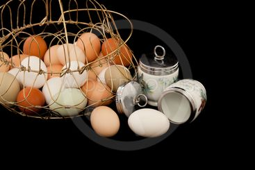 Eggs with Coddlers and Basket