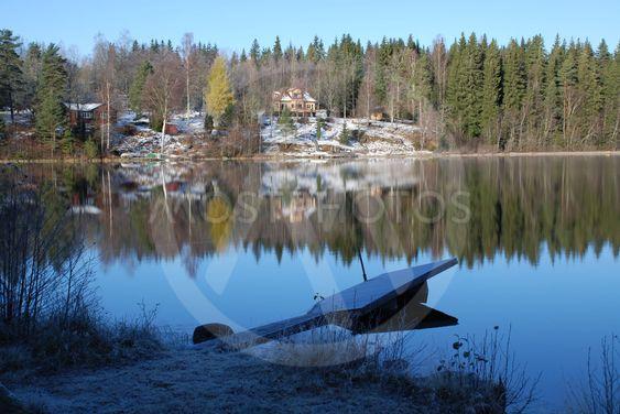 Frostig dag vid Sjunnarydssjön i Småland 1  (Sweden)