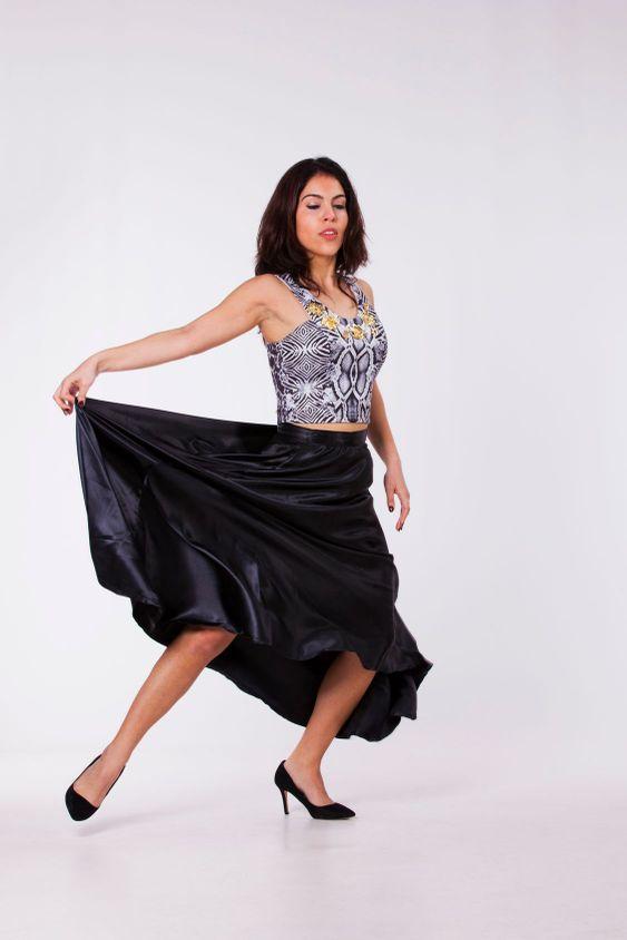 Woman dancing at studio