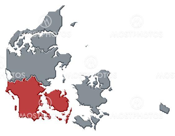 Karta Sodra Danmark.Karta Over Danmark Sodra D Av Steffen Hammer Mostphotos