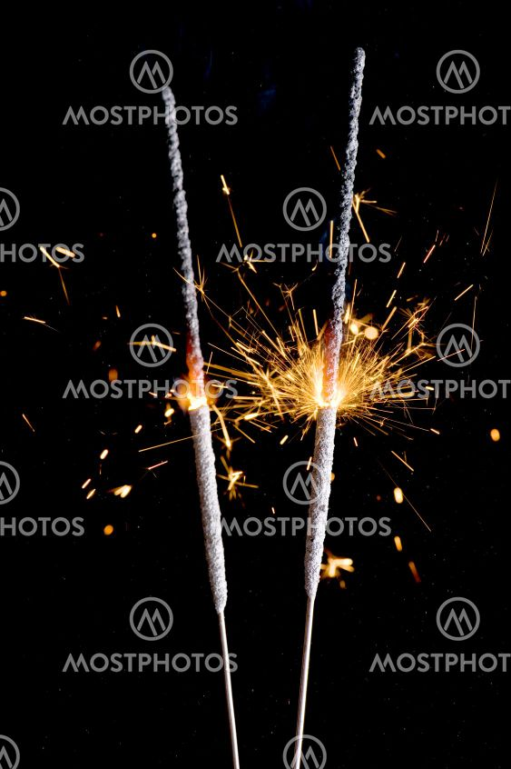 Sparkler close up