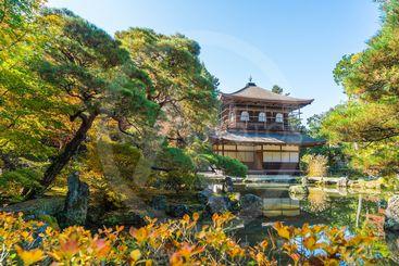 Beautiful Architecture at Silver Pavillion Ginkakuji temple