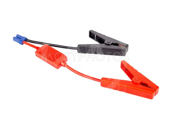 Car battery jumper cable for charger or booster.