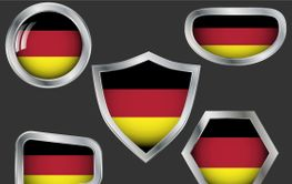 Set of badges with flag of Germany