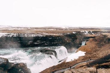 The Great Waterfall Gullfoss in southern Iceland, on the...