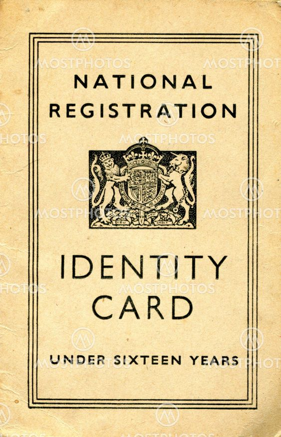 British Identity card