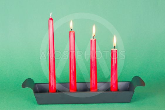 Third of Advent with red candles