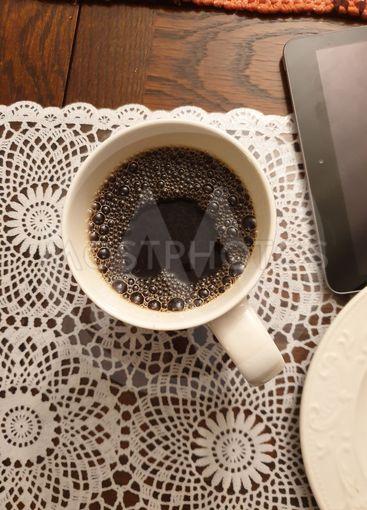 Hjärta i kaffekoppen