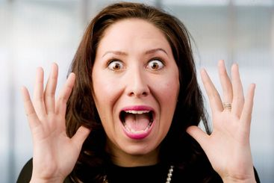Screaming Hispanic Woman