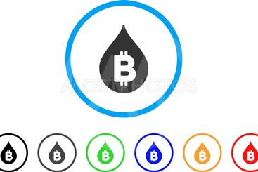 Bitcoin Drop Rounded Icon