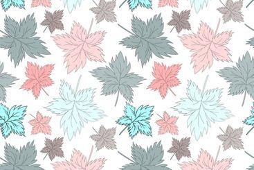 Seamless texture, square, pattern - autumn waltz....