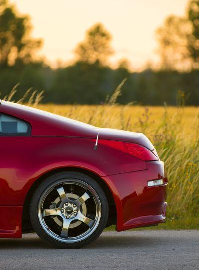 Bakdel på Nissan 350z