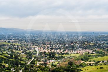 Aerial view of residential area in south San Jose, Santa...