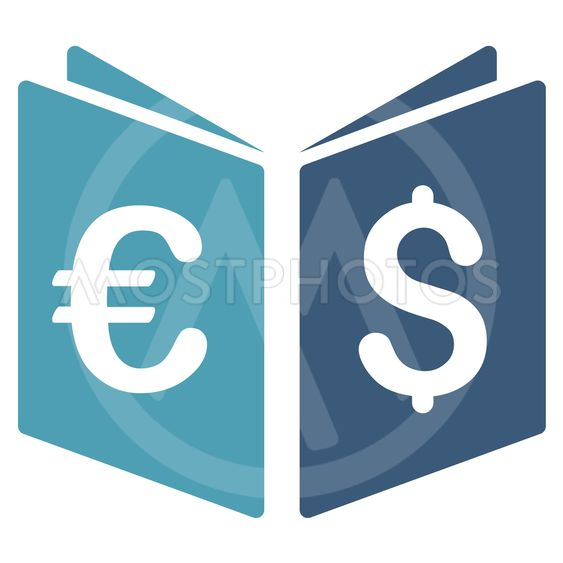 Currency Book Flat Vector Icon