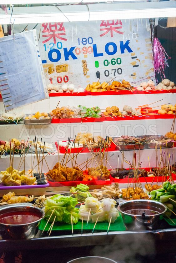 Food stall with typical malaysian food
