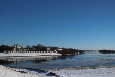 Yaroslav's Court,Grand   Novgorod, Volkhov river, sky,...