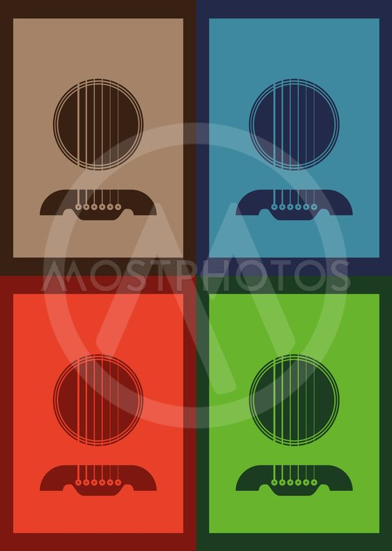 Poster Illustration Graphic Vector Gitarre