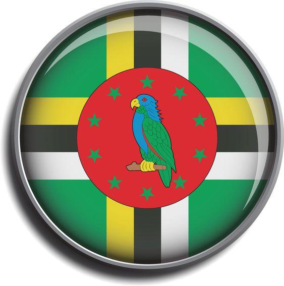 flag icon web button dominica