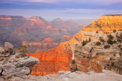 Beautiful Grand Canyon Landscape View