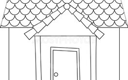 A simple house outline
