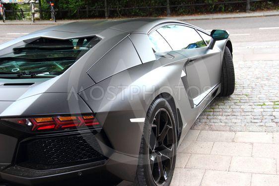 Vacker Svart Lamborghini By Piagjohansson Mostphotos