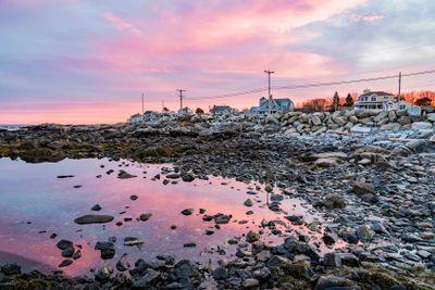 Maine coast at sunset