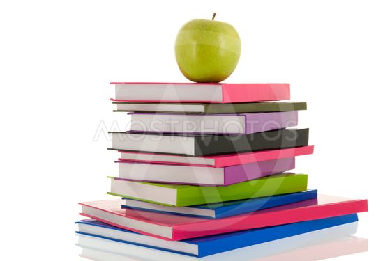 Books for school with apple