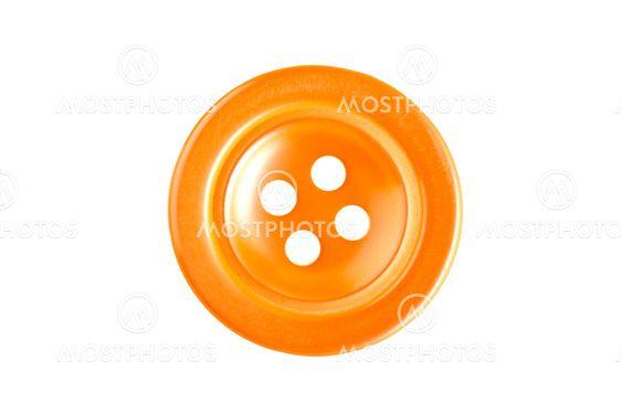 Yellow sewing button macro