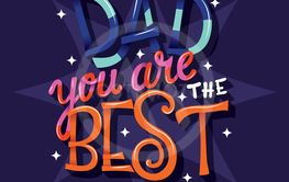 Happy Father's Day, Dad you are the best, hand lettering...