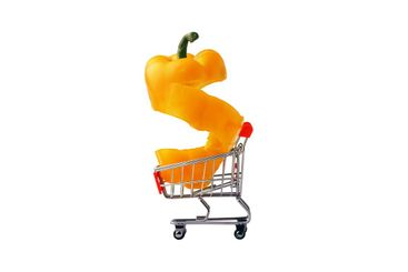 yellow sliced paprika pepper