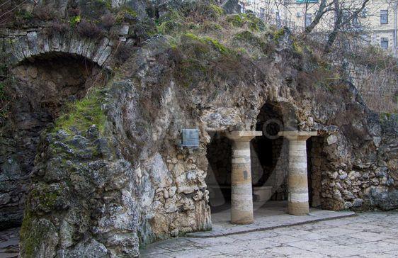 The Dianas Grotto. Flower park. Pyatigorsk landmarks The...